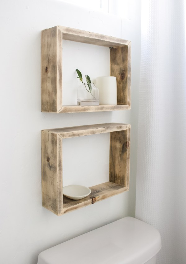 DIY Simple Box Shelves