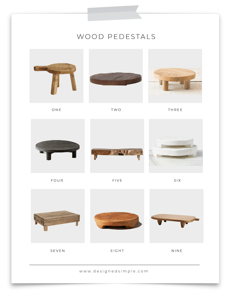 DIY Wood Pedestals | Create these wood trays from scrap wood! Perfect for any room or any space. | Designed Simple | designedsimple.com