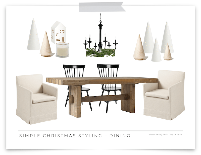 Simple Christmas Styling Guide | I'm sharing my plans to keep holiday decorating simple and easy, but festive! Designed Simple | designedsimple.com