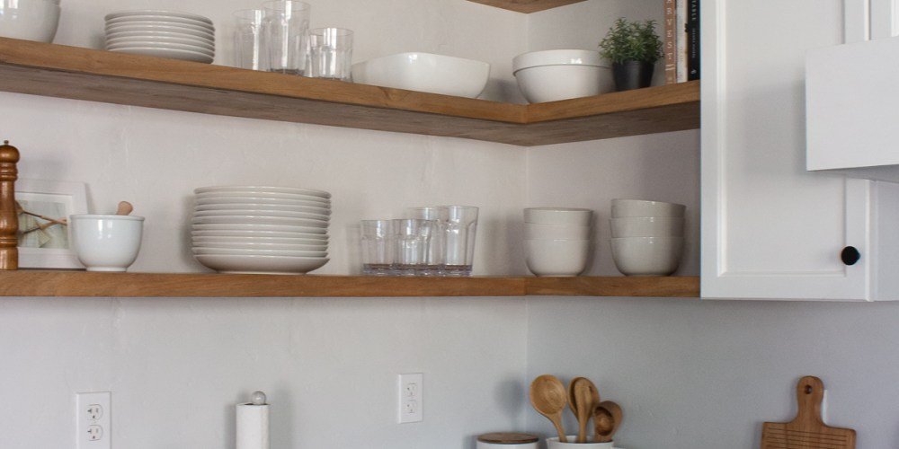 Diy Floating Corner Shelves In Kitchen, Kitchen Corner Shelf Cabinet