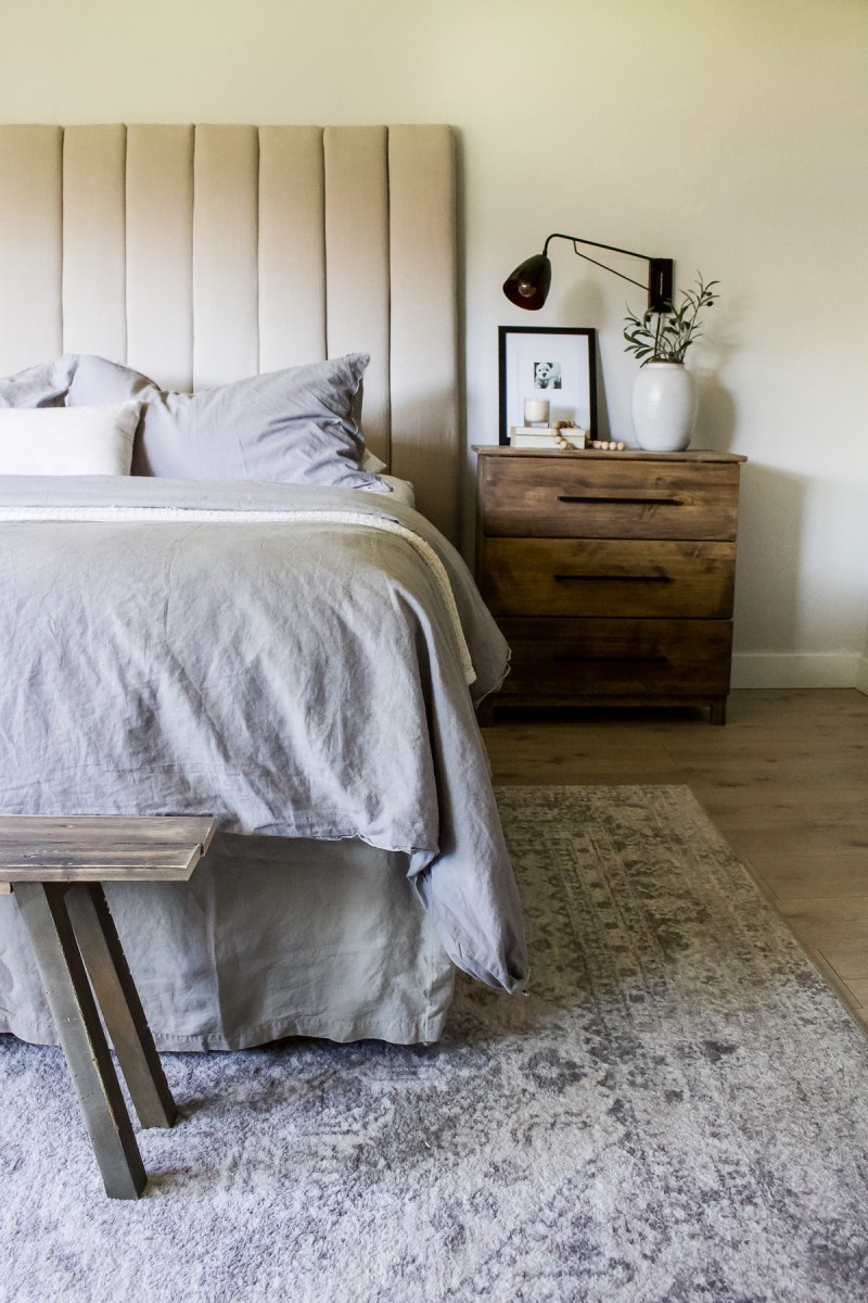 Sharing 9 of my favorite channel headboards & beds - available in so many different price points, heights, channel widths, fabric and colors! | Designed Simple | designed simple.com