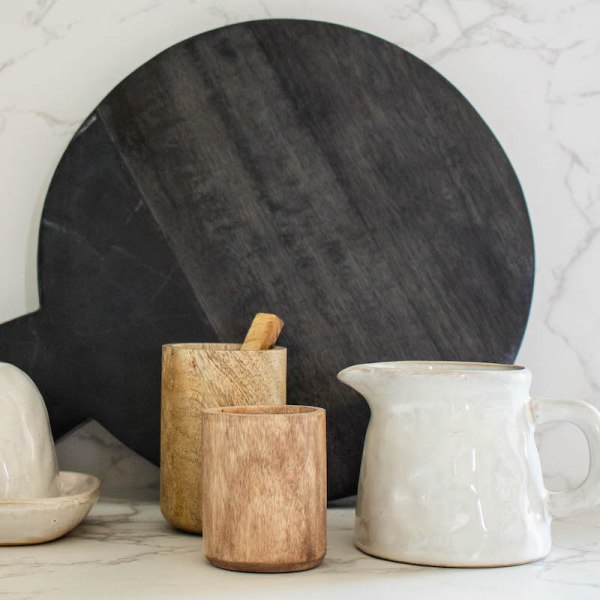 SHOP NOW! This glazed creamer pitcher is unique and stylish with a handmade look. Great for the counter, kitchen shelf or coffee station.   Designed Simple