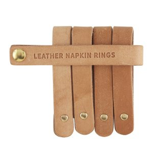 SHP NOW - These leather napkin rings are perfect for a warm and inviting tablescape. Easy to use and so versatile! | Designed Simple