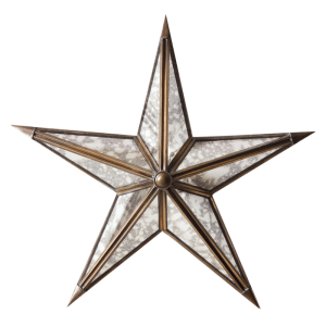 SHOP NOW - The twinkle of your holiday decor will reflect off of this mercury glass star and create a beautiful glistening effect. | Designed Simple