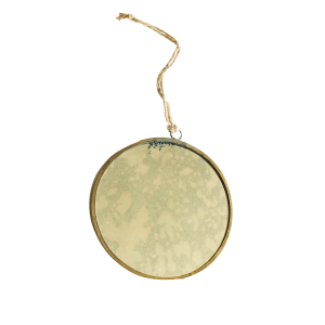 SHOP NOW - Add some extra sparkle to your Christmas tree with this mercury glass ornament! Beautifully made with brass accents. | Designed Simple