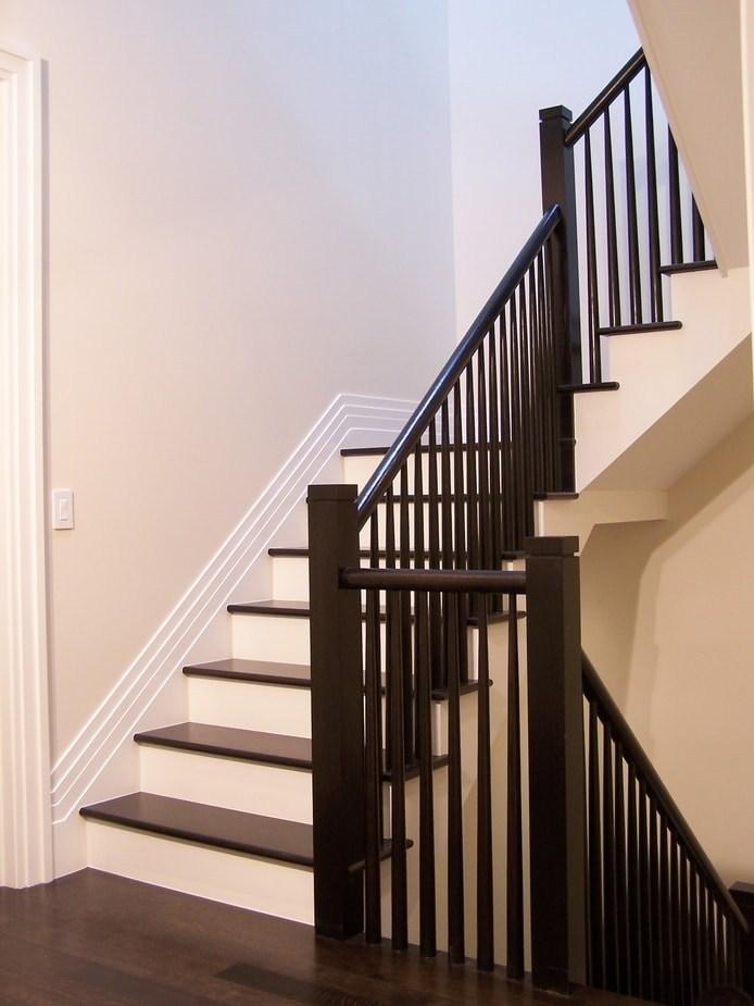 Midcentury Modern Stairs Photo Gallery Designed Stairs | Mid Century Stair Rail | Basement | Fixer Up | U Shape | Plywood | Hand