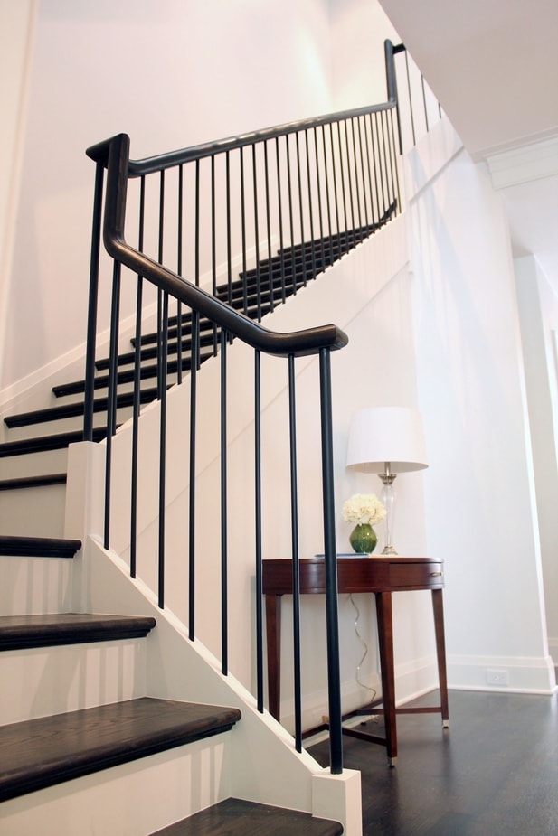 Midcentury Modern Stairs Photo Gallery Designed Stairs | Mid Century Modern Stair Handrail | Wrought Iron | Basement | Bannister | Modern Style | Contemporary Curved Staircase