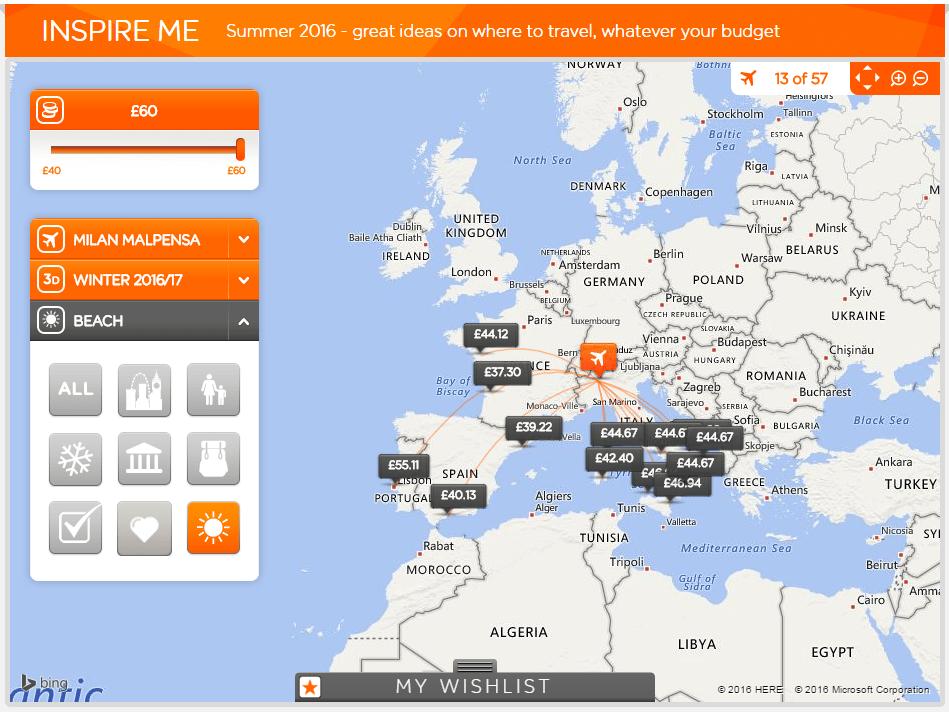 Cinci site-uri cu inspiraţie pentru călătorii - easyJet Inspire Me