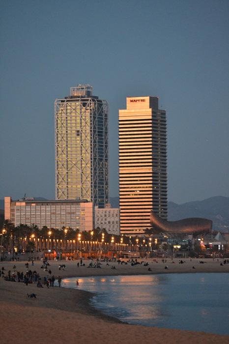 Peștele din Barcelona, opera lui Frank Gehry