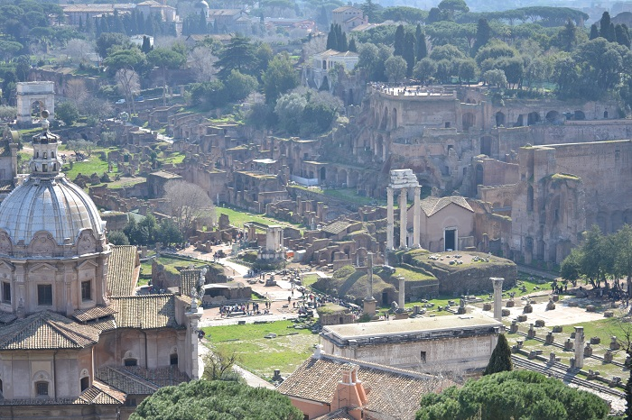 Cele mai frumoase fotografii panoramice în Roma