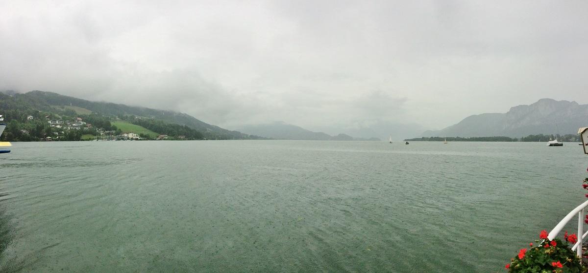 Mondsee lake, Salzkammergut, Austria