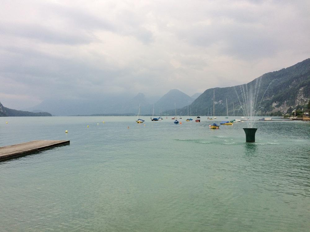 Wolfgangsee lake in St Gilgen, Salzkammergut, Austria