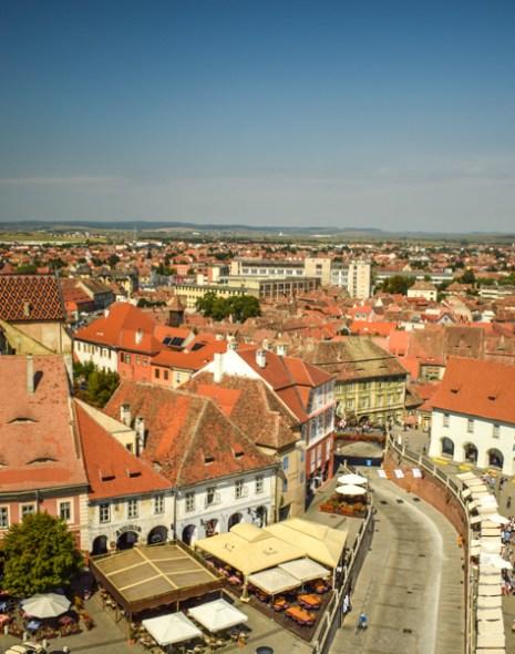 Sibiu, Romania - Priveliște din Turnul Sfatului
