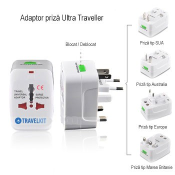Travelkit - adaptor-priza-universal-ultra-traveller