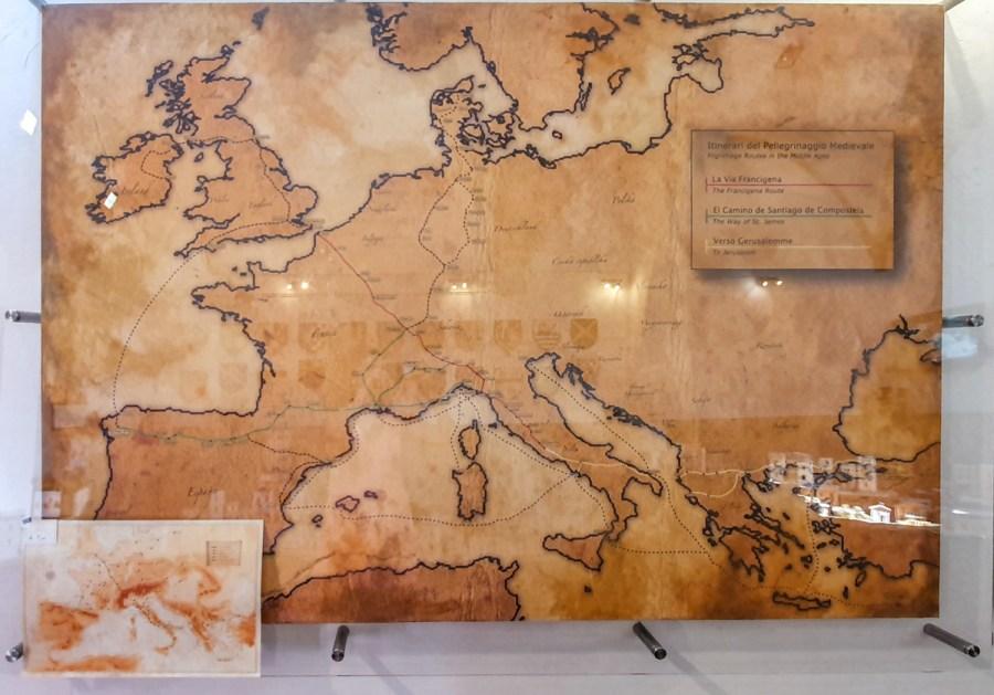 Via Francigena expusă la San Gimignano 1300