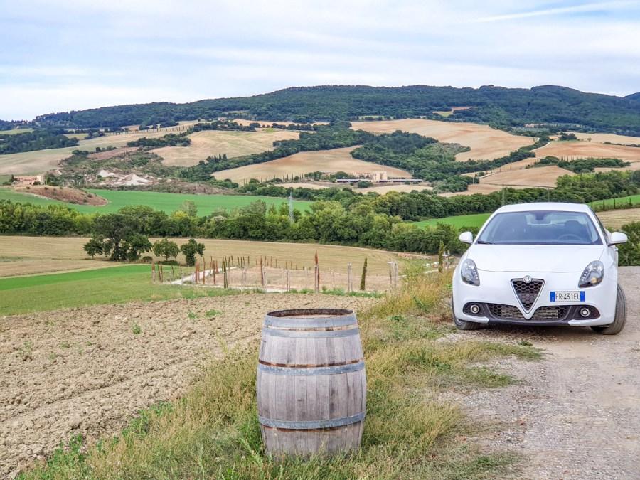 Vacanță în Toscana - masina închiriată