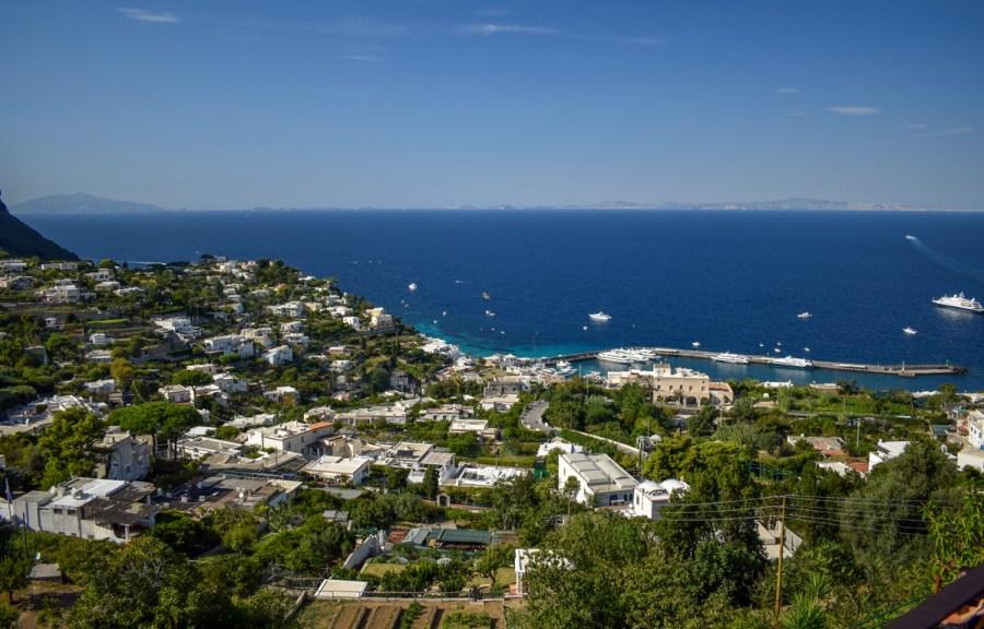 Priveliște din Piazzetta, Capri Town