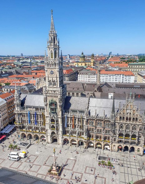 Marienplatz, priveliște din turnul Peterskirche