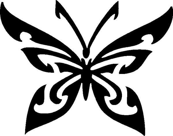 Butterfly kuvioita ja teräviä viikset
