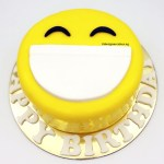 smiley happy face fondant cake