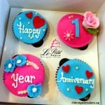 Customized Anniversary Cupcakes 2