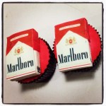 Customized Cigarette Pack Cup Cakes.