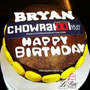 Customized Gym Logo Cake muay thai