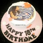 Customized Photo Fondant Cake