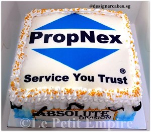 Customized Photo, Logo Cake - Propnex Cream Cake 1