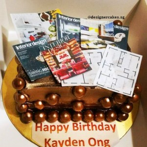 Customized Photo, Logo Chocolate Cake, ID Interior Design, Magazines, Floor Plan.