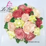 Flower Cake - Butter cream flower cake. Pink White