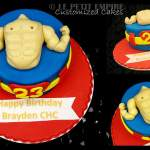 Customized Gym Muscle Man Cake
