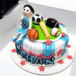 Customized Boy With Ball Games Soccer Football Basketball Rugby Baseball Ball