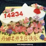 Floral Key Shaped Cake.