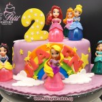 Customized Cake + Princess Toy Toppers
