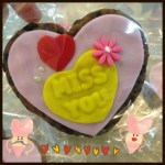 miss you heart shaped cookie