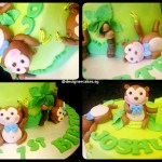 Monkey Business Customized Fondant Cake