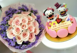 Rose Bouquet + Cheese Cake