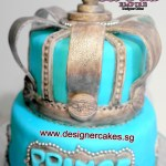 Crown Prince Cake 3D 2 tier customized fondant cake