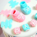 Baby Shower / Baby 1st Birthday Booties Cake