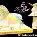 3D Pastel Unicorn Pony Sculpted Fondant Cake