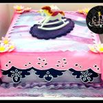 Galaxy Space Marble Tones Customized Fondant Cake + Rocking Horse Cake