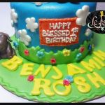 Customized Fondant Cake with Puppy Cake