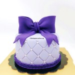Customized Fondant Ribbon Classy Violet Lavender Purple Quilted Cake