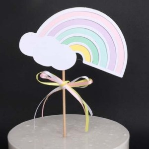 Cake Decorating Supplies - Rainbow Cloud Cake Toppers