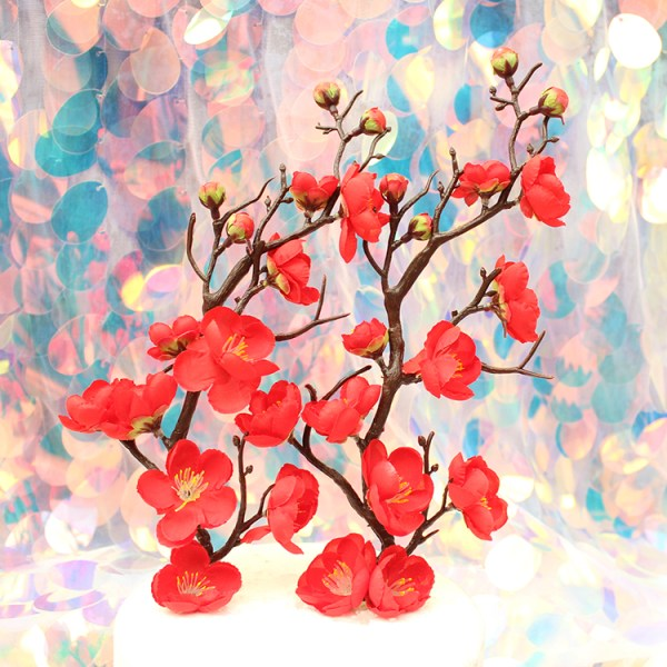 Red Plum Blossom Cake Topper 红梅花 (1)