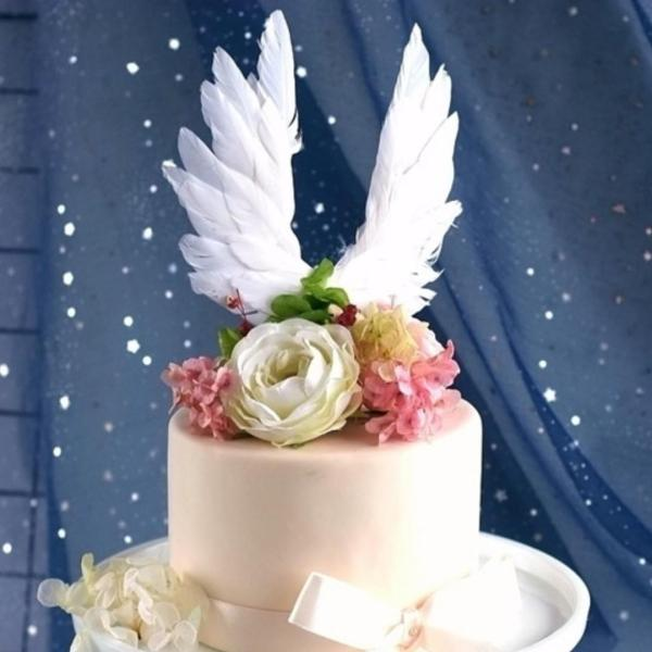 WINGS CAKE TOPPER – FEATHER WINGS (1)