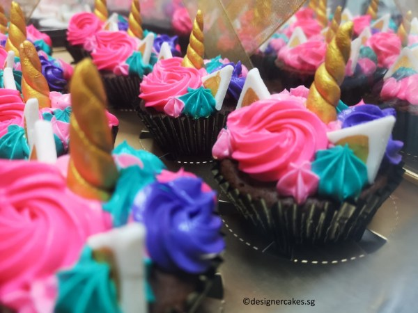 Unicorn Themed [Cream] Cup Cakes 1