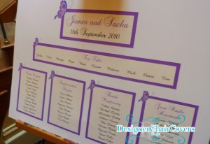 Purple Seating plan