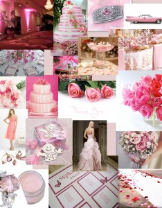 """Baby pink wedding theme"""